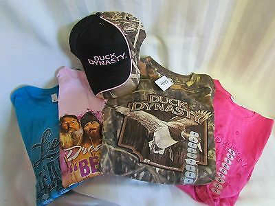 Duck Dynasty Commander Jr Lady Camo SMALL Long Sleeve T-shirt Pink Hat Lot NEW