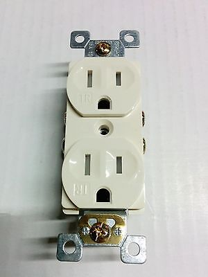 50 pc 15A Standard Duplex Receptacles 15 Amp Tamper Resistant TR Outlets ALMOND