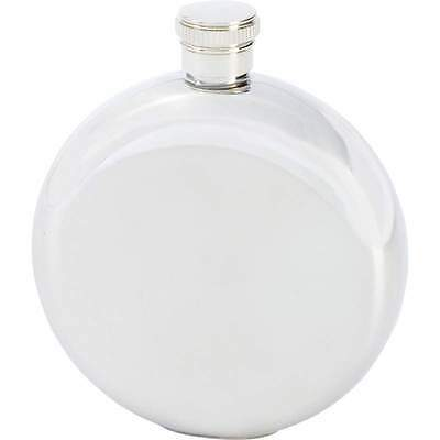 New Round Silver 5oz Stainless Steel Hip Pocket Flask Screw Cap Alcohol Whiskey