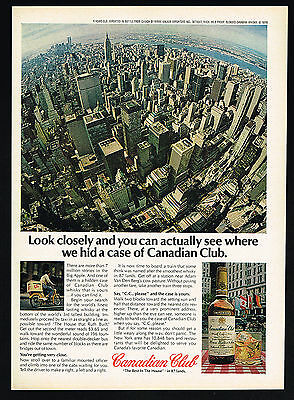 1978 New York Empire State Building Aerial View Canadian Club Whiskey Print Ad