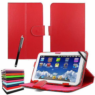 """New Universal Leather Stand Flip Cover For 7"""" Inch Tab Android Tablet PC"""