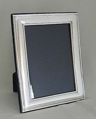 "CARRS SHEFFIELD STERLING SILVER PICTURE FRAME 5""X7"" BLUE VELVET STAND HALLMARK"