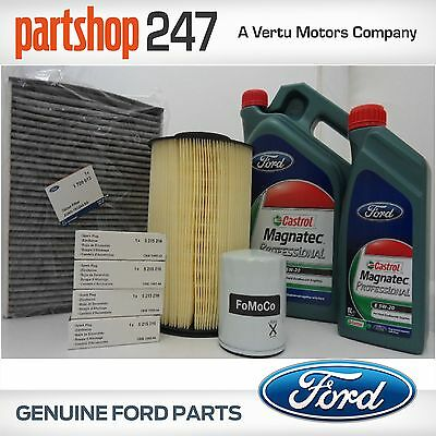 Genuine Ford Service Kit Oil Air Pollen Filter & Spark Plugs Focus 2.0 ST 12 on