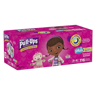 Huggies Pull-Ups Potty Training Pants Girls 3-4T 116 Count Diapers Disposable
