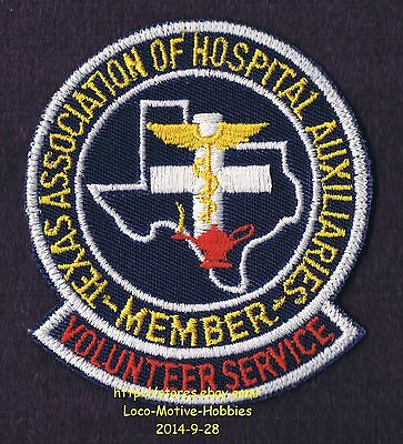 LMH PATCH Badge TEXAS ASSOCIATION HOSPITAL AUXILIARIES  Med. Auxiliary VOLUNTEER