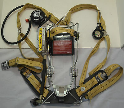 Refurbished Scott Wireframe 4.5 SCBA Firefighter Air Pak Pack 1992 Ed (Pak Only)