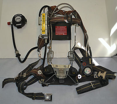 Refurbished Scott Wireframe 4.5 SCBA Firefighter Air Pak Pack 1997 Ed (Pak Only)