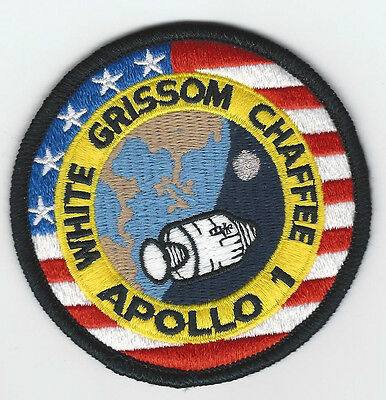 Apollo 1 Mission Patch Emblem 3 Inch NASA Made In USA White Grissom Chaffee