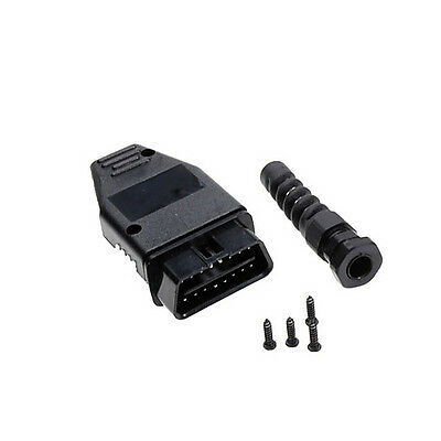 OBD2 OBDII 16 Pin Male Connector Case Housing Kit with Screws Hardware DIY
