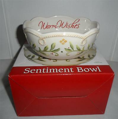 FITZ AND FLOYD SENTIMENT BOWL WARM WISHES NEW IN BOX