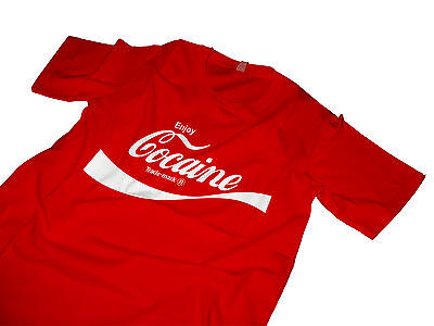 Enjoy Cocaine t shirt Coca Cola Tshirt