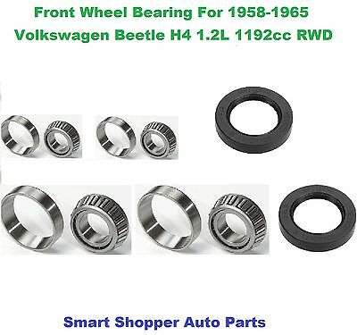 Front Wheel bearing and Seal Set For 1958-1965 Volkswagen Bettle RWD-Pair