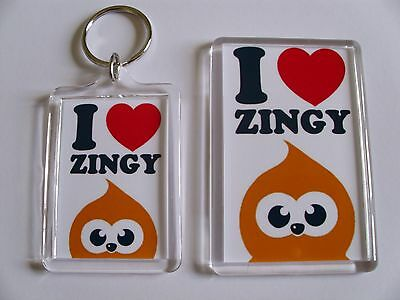 Kitchen & Home Cute Edf Zingy Magnet Flame Mascot Handmade