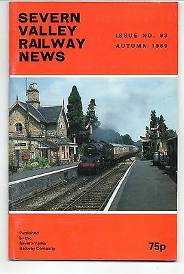 SEVERN VALLEY RAILWAY NEWS, Issue No. 93. Autumn 1989.