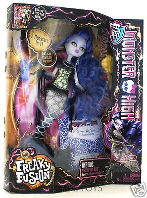 Monster High FREAKY FUSION HYBRIDS SIRENA VON BOO DOLL MERMAID & GHOST IN HAND