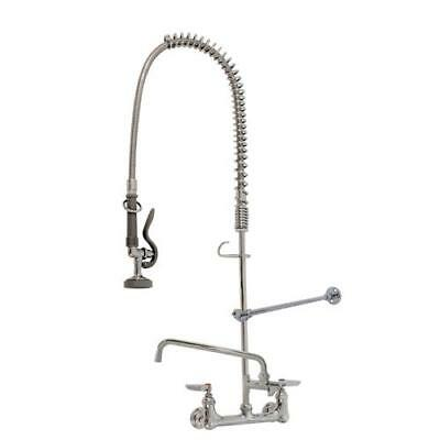 T&S Brass - B-0133-ADF12-B - Wall Mount Pre-Rinse Faucet Assembly