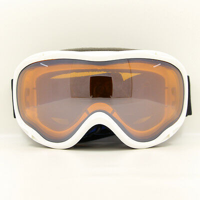 Winter Sports Snowmobile Snowboard Ski Goggles Dual-Lens Anti Fog UV White Frame