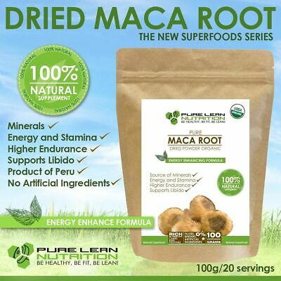 Maca Organic Usda Certified 100G Superfood Natural Powder Made In Peru