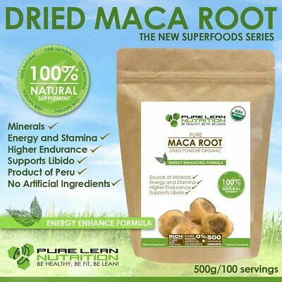 Premium Maca Organic Usda Certified 500G Superfood Powder Made In Peru