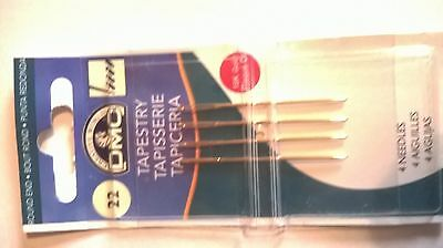 Size 22 Dmc Tapestry Needles Pack Of 4  6131/12 With Free Uk Postage And Packing
