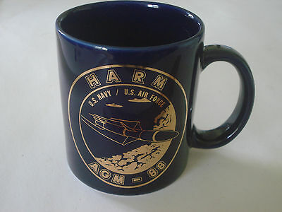 AGM-88 HARM US Navy - US Air Force Royal Blue with Gold Lettering  EUC