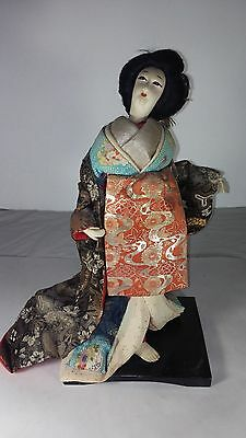 (#134) Beautiful Handmade Japanese Silk Doll | Geisha | Large | From Japan