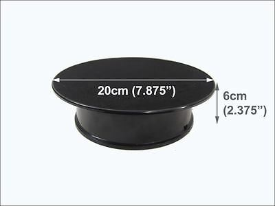 BLACK MOVING ROTARY ROTATING DISPLAY TURNTABLE STAND x1