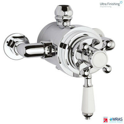 Hudson Reed Thermostatic Dual Exposed Edwardian Traditional Shower Mixer Valve