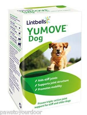 Lintbells Yumove Dog Tablets 60/120/300 Joint Care Supplement Support Treats