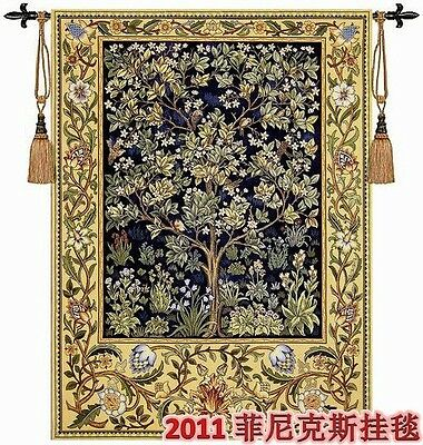 Beautiful Large Tree Of Life Woven Made Wall Hanging Fine Tapestry Rug Garden