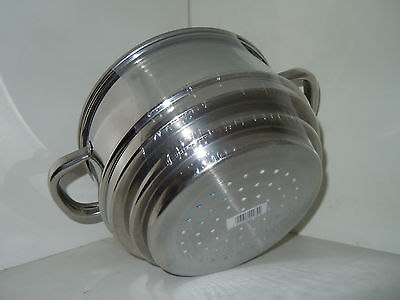 Stainless Steel Steamer pan ----Pendleford with glass lid --for 16,18,20cm pans