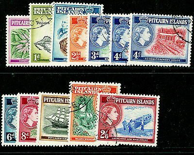PITCAIRN ISLANDS SG18-28, COMPLETE SET, FINE USED. Cat £27.