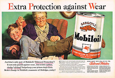 Vintage 1940 Magazine Ad Mobiloil Special Use For The Best Engine Protection 1940-49