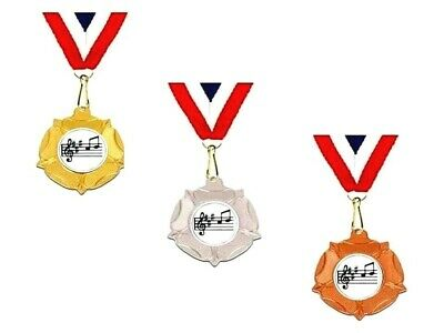Music medal trophy award 40 mm gold silver bronze trophies free engraving
