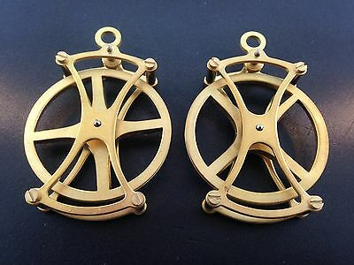 """Large fancy 2"""" pulley for Seth Thomas and other weight driven clocks Set of 2"""