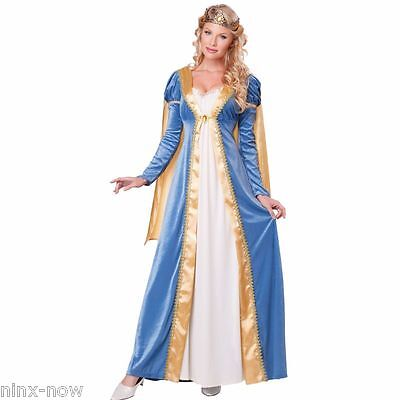 Elegant Empress Medieval Maid Marion Fairy Tale Women's Fancy Dress Costume