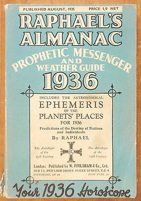 Raphael's Almanac Or Prophetic Messenger & Weather Guide For 1936