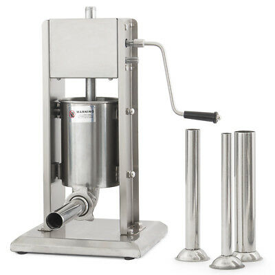 3L 8LB Industrial Vertical Sausage Stuffer Stainless Steel Dual Speed Commercial