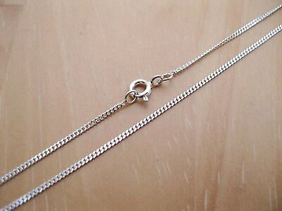 925 Sterling Silver - 1mm Diamond Cut Curb Chains - Various Sizes Available