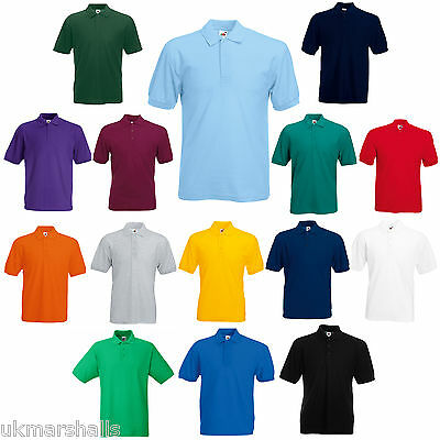 Bulk Buyer Fruit Of The Loom Polo T Shirt 14 Colours All Sizes Bn