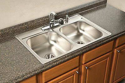 Franke USA FDS604NB Double Bowl Stainless Steel  Drop-In Topmount Kitchen Sink