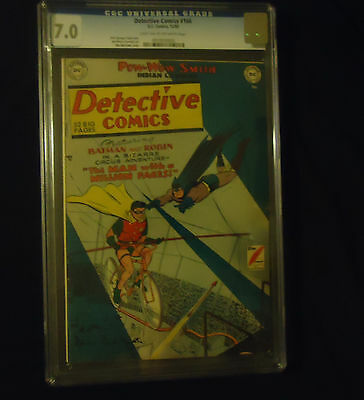 1950 DC Detective Comics #166 CGC 7.0 Light Tan to Off White Pages Batman Robin