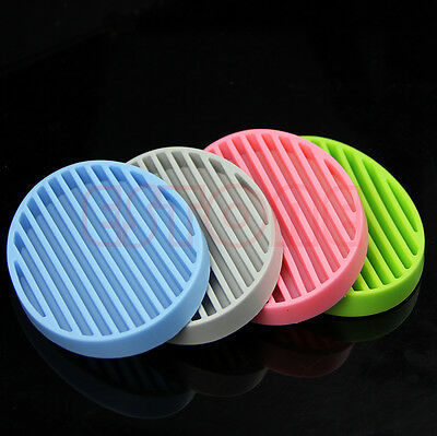 Hot Practical Fashion Silicone Flexible Soap Dish Plate Bathroom Soap Holder