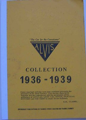 Alvis Collection 1936-39 Road Test Book 17 25 Crested Eagle 20hp 12/70 16/95 4.3
