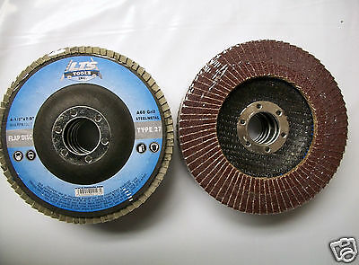 "4-1/2"" x 7/8"" Flap Disc 60 Grit Type 27 AO Professional Grade - You Choose Qty"