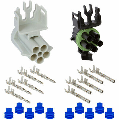 Weather Pack 5 Pin Connector Kit 12 GA