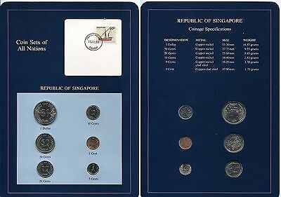 """Coin Set of all Nations """"Singapur"""" 1981"""