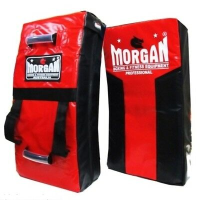 Morgan RED/ BLACK Heavy Duty Strike Shield Boxing Kick Pad Rugby Muay Thai