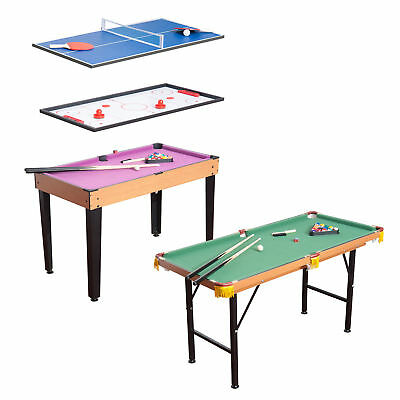 3 in 1 Multi Games Table Billiards Pool Table Tennis Air Hockey Children Family