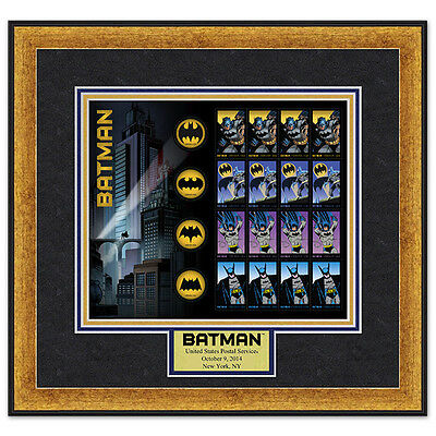 USPS New Batman Stamp Framed Art